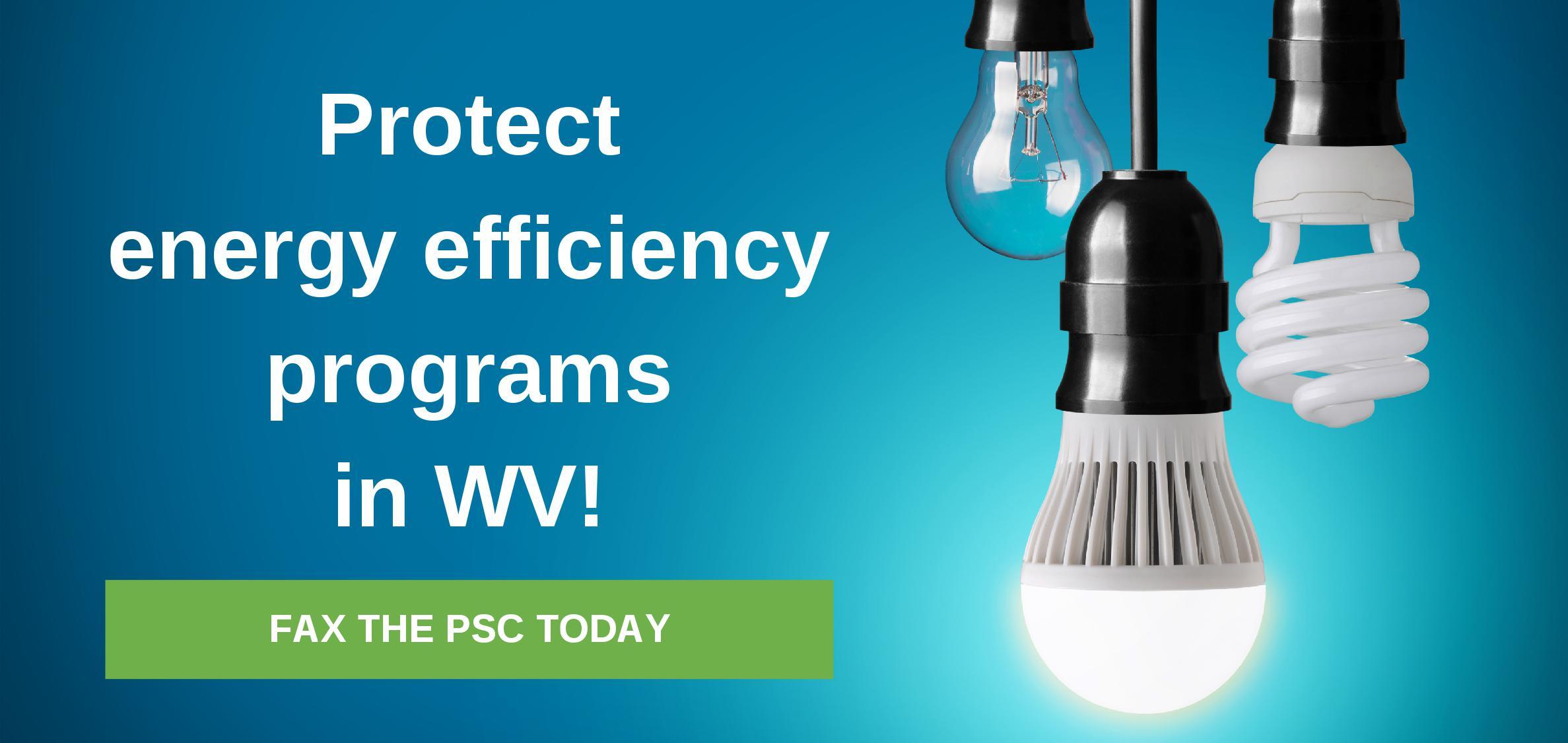 EEWV protect energy efficiency programs in WV banner