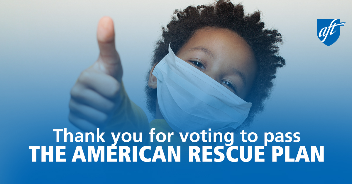Thank you for voting to pass THE AMERICAN RESCUE PLAN