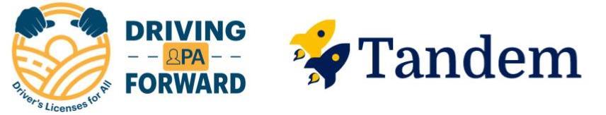 DPAF and Tandem Logos